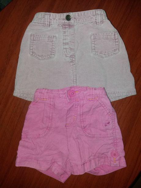 Летние шорты, юбка для девочки 1, 1,5 года