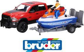 BRUDER 02503 Ram 2500 z lawetą i skuterem wodnym