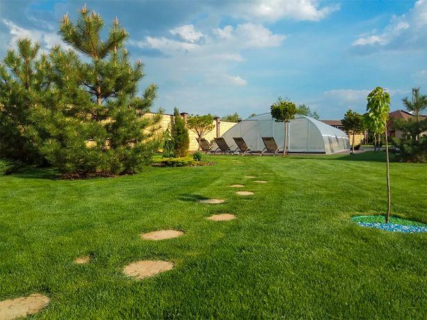 Укладка газона в рулонах, укладка травы в рулонах, продажа газона