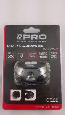 Latarka czołowa LED Pro akumulatorowa, sensor ruchu