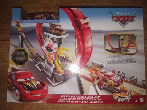 Mattel Disney Cars Auta Tor wyścigowy Superpętla Rocket Racing