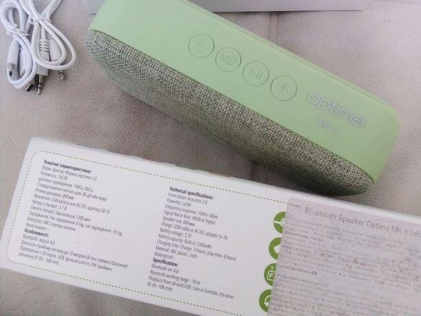 портативная Bluetooth колонка Optima MK-1 Infinity Green