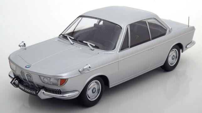 BMW 2000 CS 1965 srebrny model 1:18 - KK-Scale