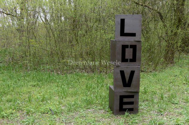 Drewniane kostki LOVE w stylu rustykalnym!