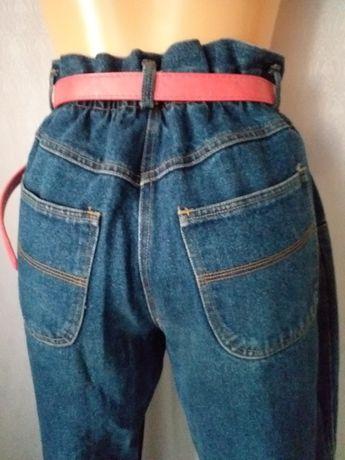 Spodnie jeansy z wysokim stanem xl bojfrendy
