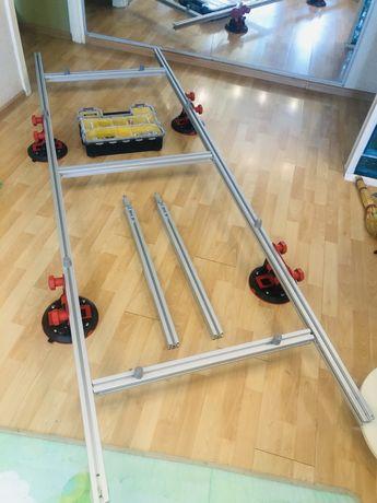 Система переноса крупноформатной плитки с 4 вакуумными присосками Руби
