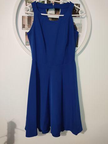 Chabrowa wizytowa sukienka