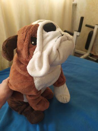 Игрушка мягкая собака бульдог