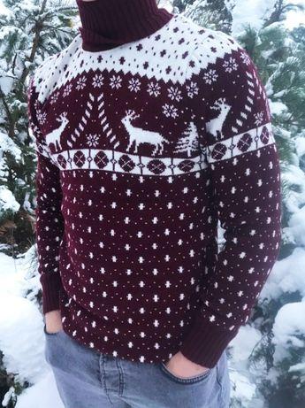 Лучший подарок на Зиму!Мужской свитер с оленями + носки в подарок!ЖМИ