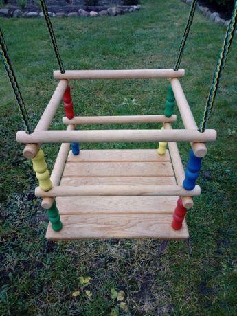 Huśtawka drewniana dziecięca