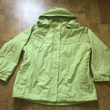 Горнолыжная лыжная сноубордическая куртка женская салатовая Trespass