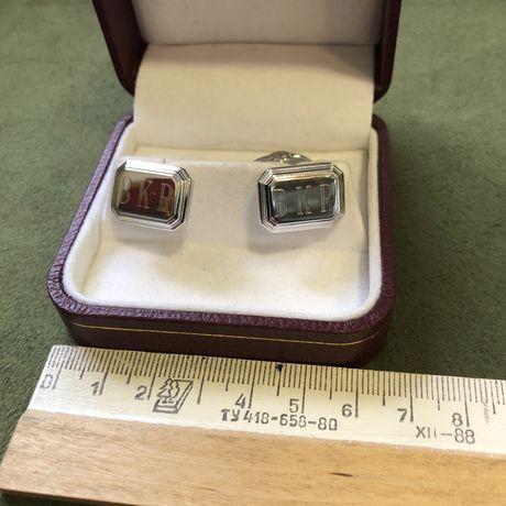 Запонки серебро 925 фирменные.
