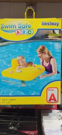 Nowe duże koło z siedziskiem dla najmłodszych dzieci niemowląt na base