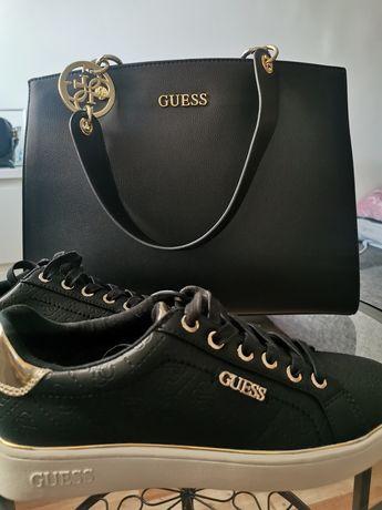 Nowe oryginalne buty trampki Guess logo monogram 39
