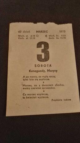 Kartka z kalendarza 03.03.1973