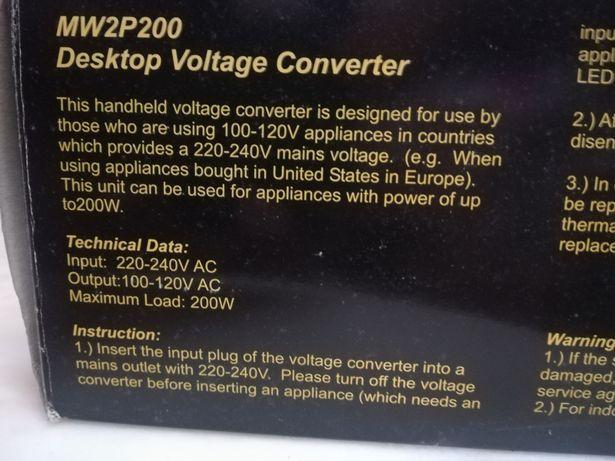 Converter 220 240v para 110v novo em caixa
