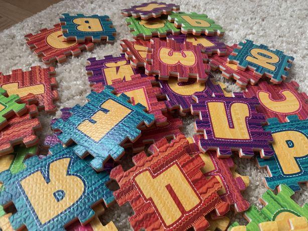 Мягкие пазлы алфавит для детей