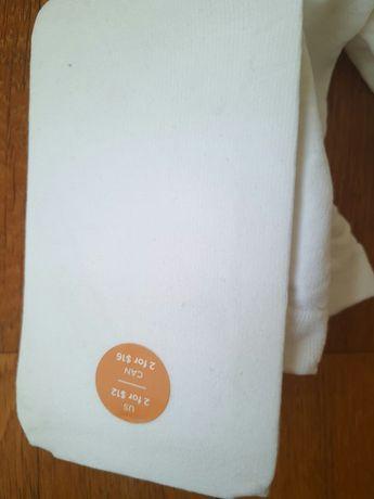 Колготки фирма gimboree оригинал детские микрофиб нов белые на 4-5лет