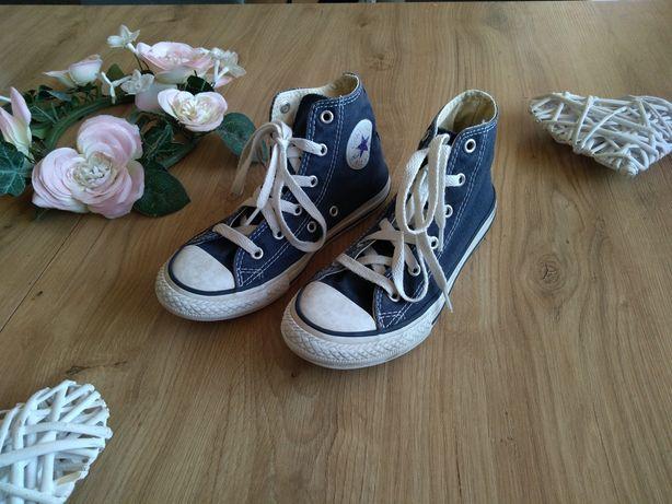Converse all star granatowe wysokie trampki tenisówki buty 33