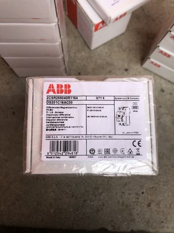 ABB Дифавтомат Ds201 C16 AC30