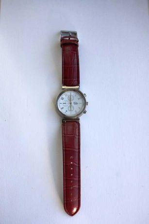 Relógio cor de cereja sem pilhas