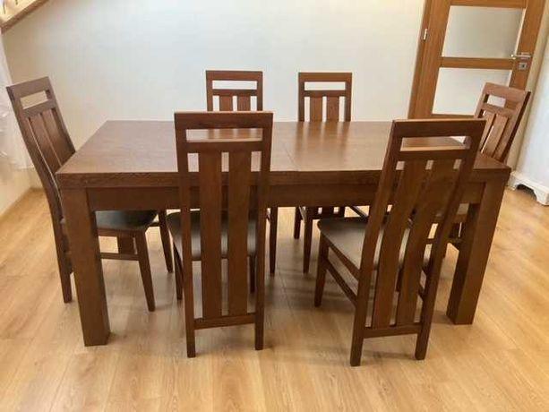 stół drewniany +krzesła