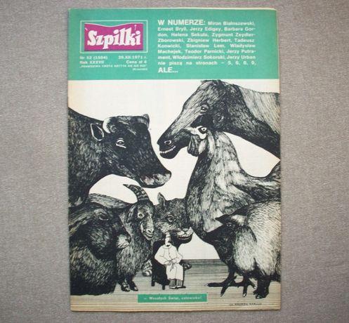 Szpilki, tygodnik satyryczny, nr 52, (1584) 26.XII.1971.
