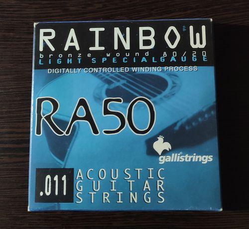 Струны для акустической гитары GALLI RAINBOW RA50 Light Special