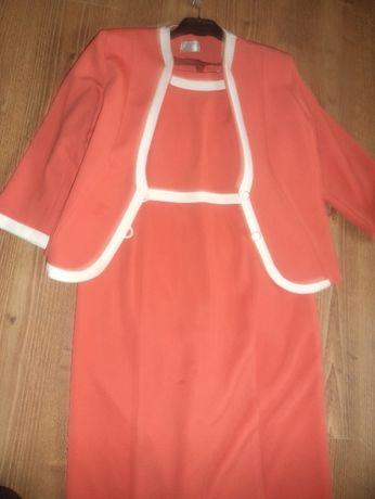Elegancka wizytowa garsonka, sukienka z żakietem- komunia, wesele