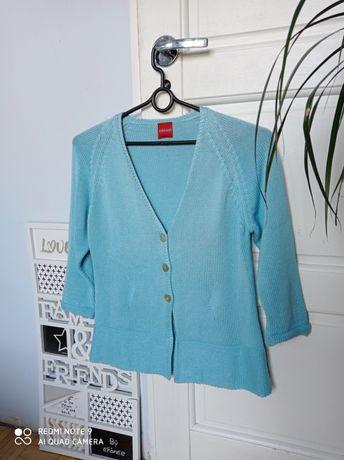 Olsen elegancki rozpinany błękitny sweter kardigan 40 42 idealny nowy