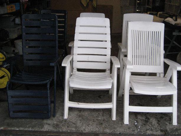 Krzesła Fotele ogrodowe plastikowe-metalowe Niemieckie Mocne SKŁADANE