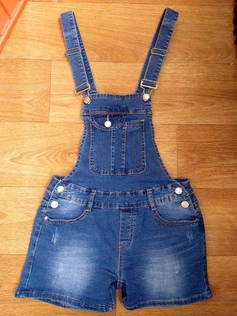 Турция, Джинсовый комбинезон комбез S-M размер джинсовые шорты