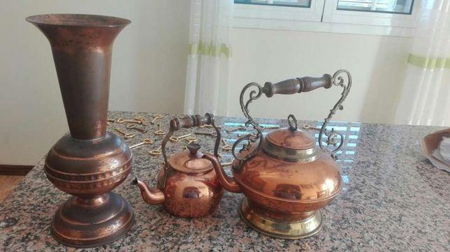 Peças decorativas em cobre