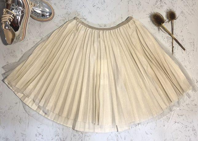 Плиссированая юбка ZARA, сверху фатин