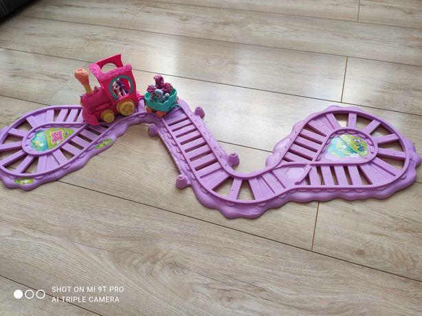Zestaw pociąg z torami my little pony+gratisy koniki