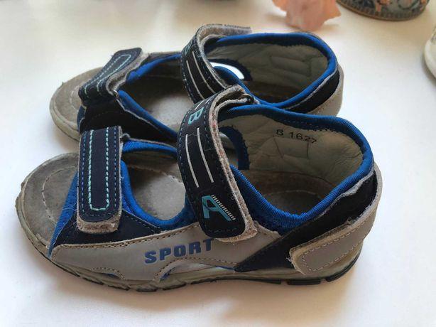 Детские сандалии на мальчика размер 27