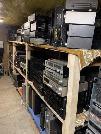 Wzmacniacze, kolumny, kina domowe, gramofony, odtwarzacze CD, Deck VHS