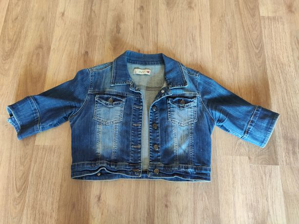 Укороченная джинсовая куртка 42 размер