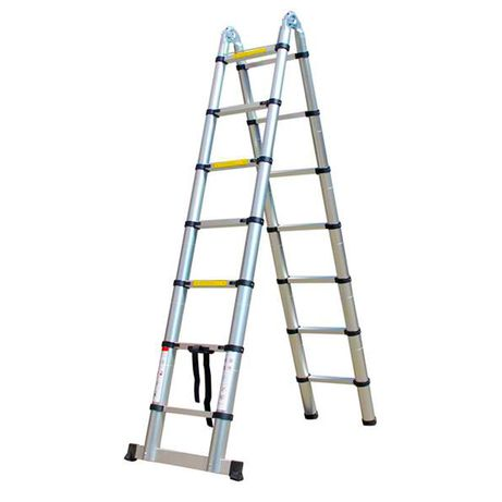 Escada telescópica retrátil de alumínio - 5,60M