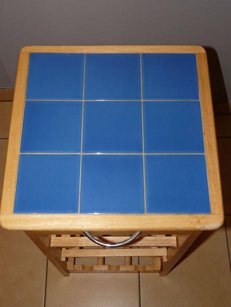 stolik barek drewno etażerka