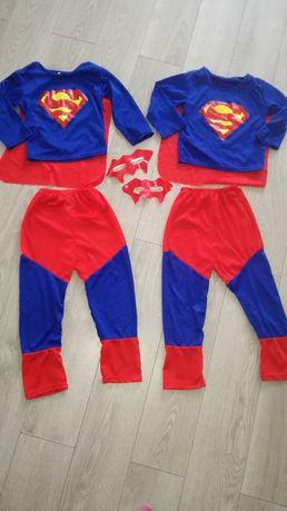2 kostiumy supermena dla bliźniaków 3-6 lat bal przebierańców
