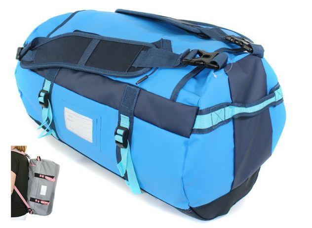 Torba plecak 2w1 sportowa turystyczna waterproof 50 litrów niebieska