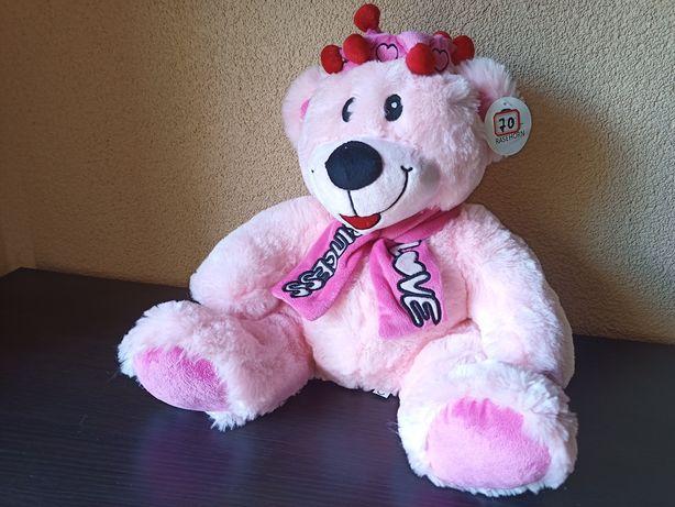 Miś różowy NOWY dla dziewczynki