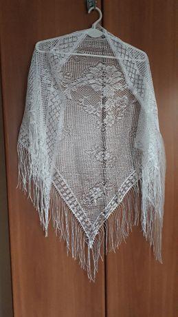 Chusta ażurowa strój komunia bal