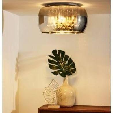 LUCIDE LAMPA srebrna nowa glamour z kryształkami