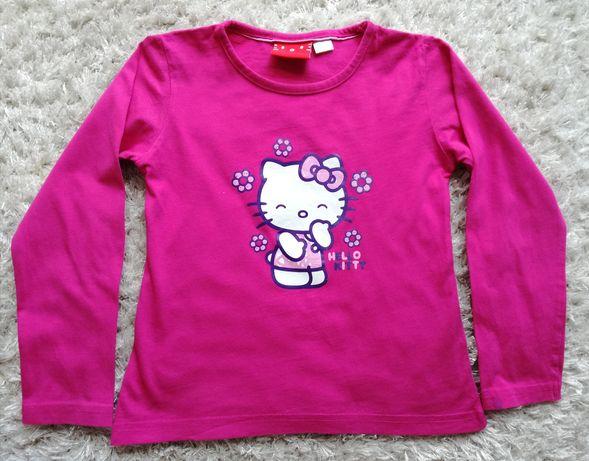 Różowa bluzka HELLO KITTY, rozmiar 110/116