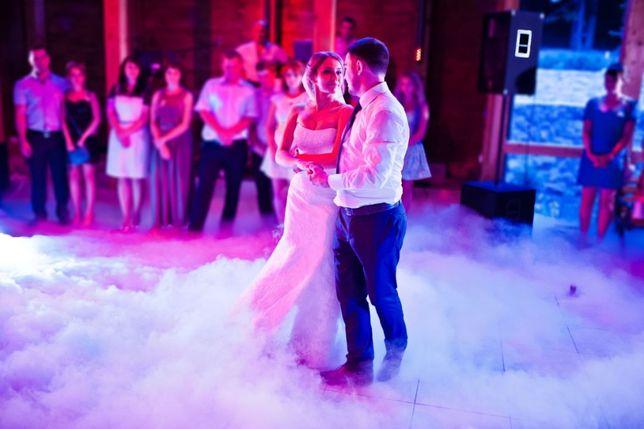 Ciężki Dym Taniec w Chmurach Wynajem wytwornicy napis LOVE LED