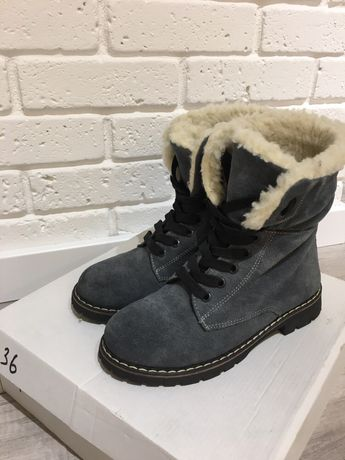 Зимові ботинки/сапожки, натуральна замша, 36