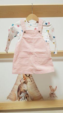 Zestaw h&m 74 sukienka