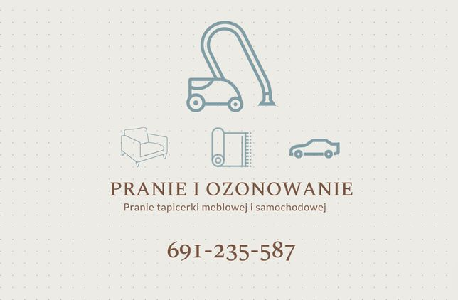 MOBILNE pranie tapicerki meblowej, samochodów, wykładzin, dywanów